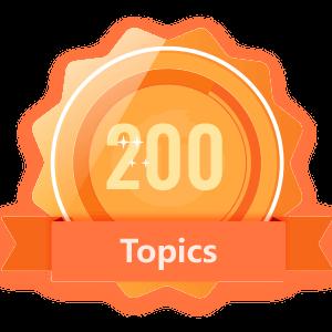 Publish 200 Topics
