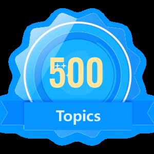 Publish 500 Topics