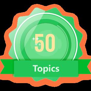 Publish 50 Topics