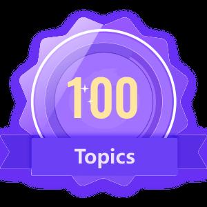 Publish 100 Topics
